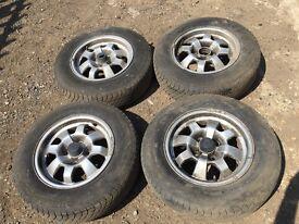 For sale - Porsche 924 alloy wheels - good tyres
