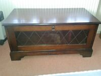 TV CABINET DARK WOOD.....COLLECT FROM HARROGATE