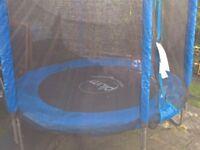 6ft wide enclosed trampoline