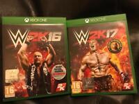Xbox one games W2K16 and W2K17