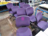 8 Orangebox upholstered Chairs, purple