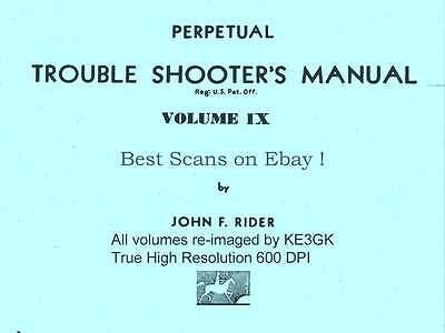 Rider's Perpetual Troubleshooters Manual Vols 1-23 * DVD * 600dpi * PDF * KE3GK