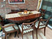 Larkswood extending table and 6 chairs