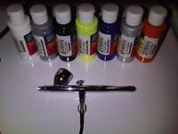 Wanted iwata airbrush + paints etc air brush kit.