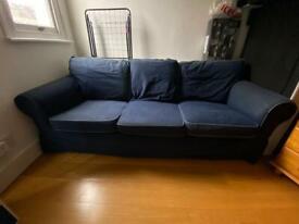 IKEA dark blue sofa