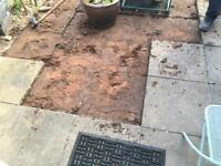 Used 20 of 600 x 600 mm concrete slabs & 3 of 3 x 3 ft slabs.