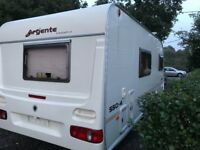 Argente Touring 4 Birth Caravan with too many extras to Mention, End Dressing Room, Walk-in Shower