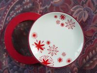 Tea Plates Christmassy New