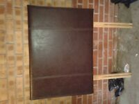 Faux leather single headboards..