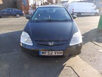 HONDA CIVIC (EP2) 1.6 VTEC AUTOMATIC 3DOOR! £545 O.N.O (NOT A TYPE R NISSAN BMW VOLKSWAGEN TOYOTA)