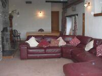 Very Large Italian Leather Corner Sofa Settee Suite 'Italsofa'