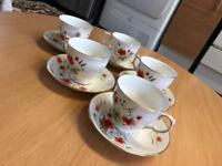 Cups and saucers