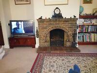 Brick/Quarry Tile Fireplace