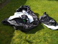 Budbox tent fabric parts - free to willing collector