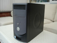 Dell Dimension 1100 Tower PC, Windows 7 Pro Computer Base Unit.