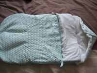 Baby's cosy unit in colour suitable for boy or girl (brand new) £8