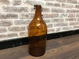 Vintage Glass Beer Bottle
