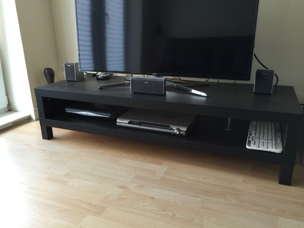 Ikea Lack Tv Bench Black Brown In Basingstoke