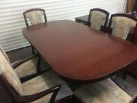 Dining table and 6 chairs with Sideboard