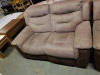 2x sofa electric recliner