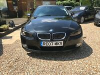 2007 BMW 325I SE. Black.coupe