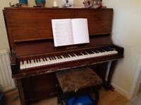 Upright piano Brinsmead to collect for free.