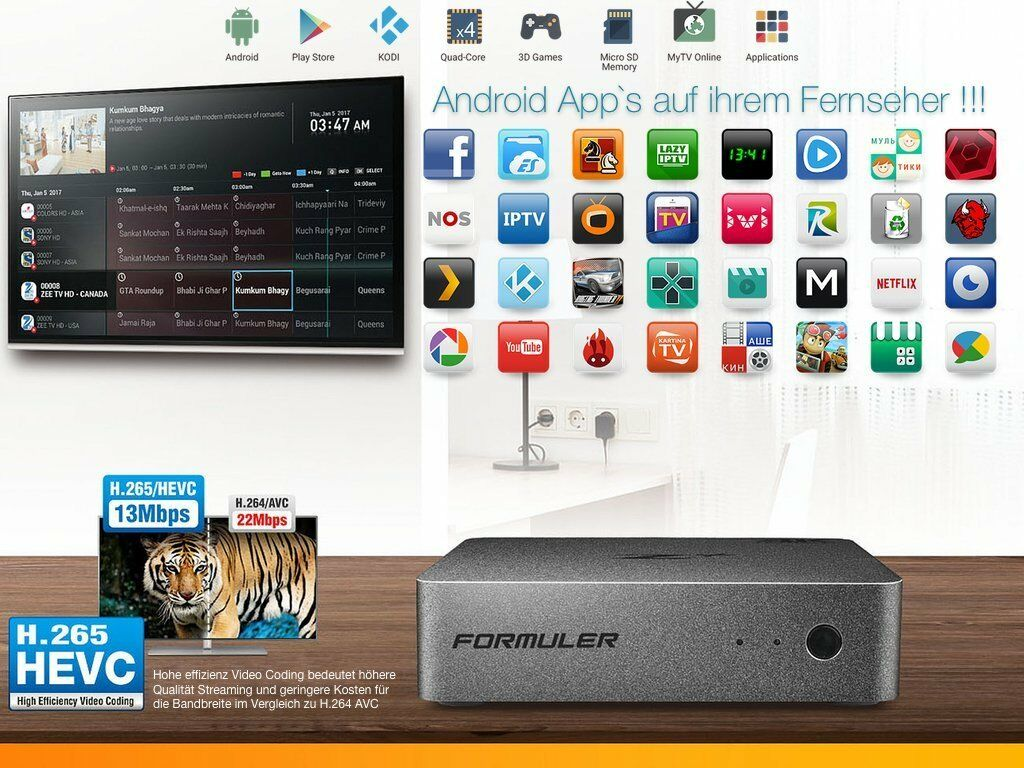Formuler Z+ Plus 4K HD IPTV BOX Android Streaming TV Media Player MyOnlinetv NEU