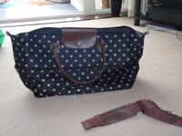BRAND NEW - Black and Brown spotty bag /holdall