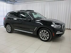 2018 BMW X3 30i x-DRIVE w/ NAVIGATION, BLIND SPOT, PANORAMIC R
