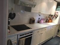 Kitchen units for sale including oven, hob and hood.