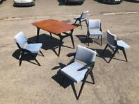 Amazing retro Mid Century dining table and chairs.