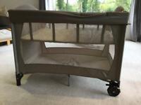 Mothercare Travel cot with bassinet, changing mat and additional mattress