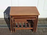 Vintage 1970's nest of 3 coffee/side tables retro