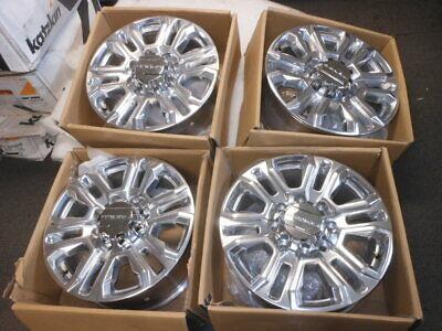 """GM 20"""" x 8.5 12 Spoke Denali Wheels Rims 2020 GMC Sierra 2500 3500 23377034 QTY4"""