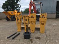 Rock Breaker Hammer POST DRIVER suits 2.5 to 4.5 ton machine UNUSED