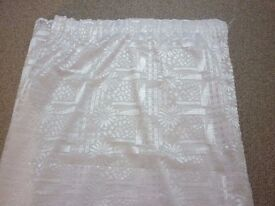 "pair of voile net curtains lined 90"" drop x 59"" wide"