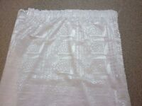 """pair of voile net curtains lined 90"""" drop x 59"""" wide"""