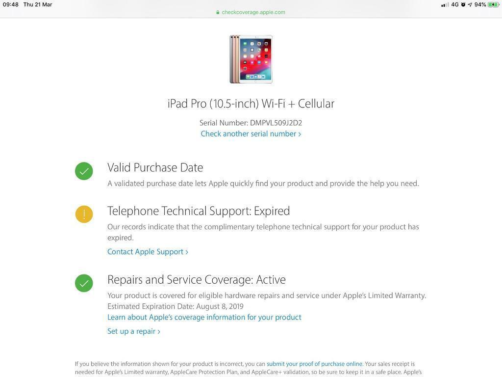apple support smart keyboard serial number