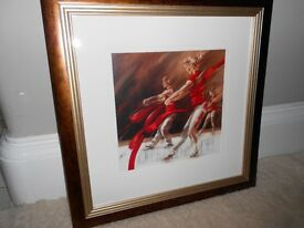 Pair Ballerina / Dancer Framed Prints