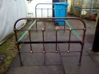 Original old brass/iron bed