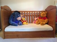 Winnie the Pooh cot bed - with mattress