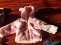 Fluffy baby girls coat