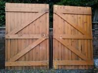 Wooden timber garage doors