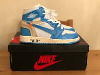 398825aaf75a Nike off white Air Jordan 1 UNC UK 4.5