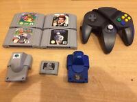 Nintendo 64 Games, Controller, Rumble Pak, Memory Card. Mario! 007! N64