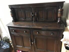 Dark wood sideboard/ dresser