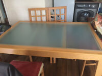 Dining Table Set with 6 Chairs - extendable