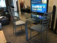 IKEA DINNING TABLE WITH 4 CHAIRS IN VERY GOOD CONDITION AND POSSIBLE DELIVERY FOR A SMALL FEE