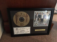 One Direction Framed Limited Collectable Signed Gold Disc Band Pop Music
