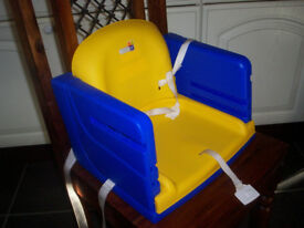 K&D Baby's Plastic Feeding Booster Seat Blue & Yellow